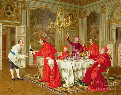 Table Cloth Painting - Birthday by Andrea Landini