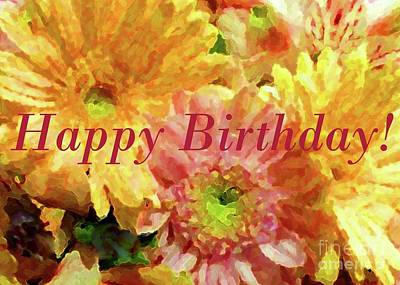 Photograph - Birthday Bouquet by Barbie Corbett-Newmin