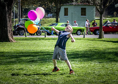 Pink Hot Rod Photograph - Birthday Boy by Brad Stinson
