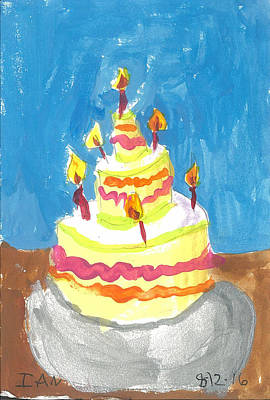 Painting - Birthday Cake by Ian Reynolds