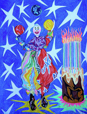 Painting - Birthday Clown by Robert SORENSEN