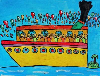 Wall Art - Painting - Birthday Cruise by Brandon Drucker