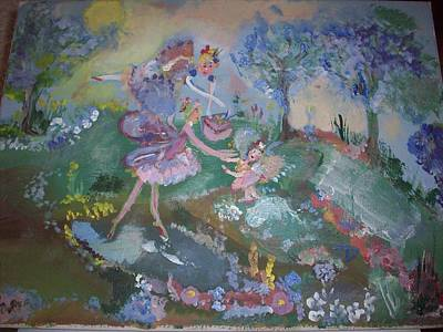 Art Print featuring the painting Birthday Fairy by Judith Desrosiers