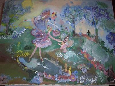 Birthday Fairy Art Print by Judith Desrosiers