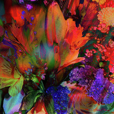 Digital Art - Birthday Flowers by Barbara Berney