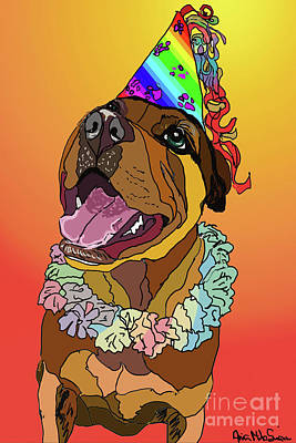 Digital Art - Birthday Girl by Ania M Milo