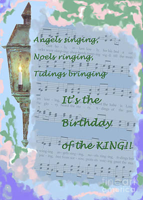 Painting - Birthday Of The King by Sandy McIntire