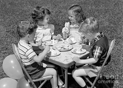 Birthday Party On The Lawn, C.1950s Art Print by H. Armstrong Roberts/ClassicStock