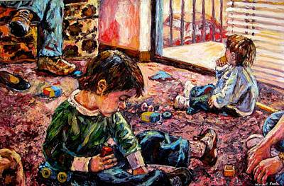 Painting - Birthday Party Or A Childs View by Kendall Kessler