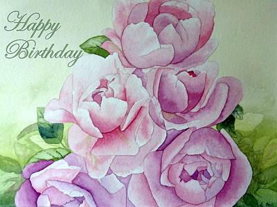 Birthday Peonies Art Print by Laurel Best