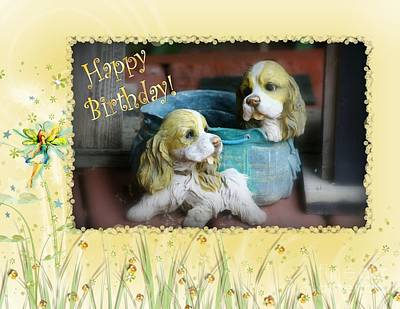 Photograph - Birthday Puppies by Leone Lund