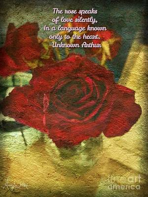 Photograph - Birthday Roses With Poem  by MaryLee Parker