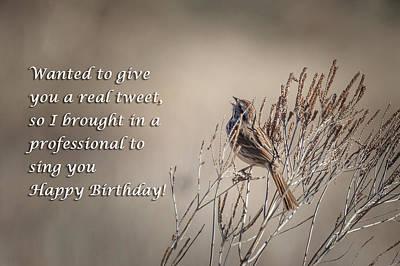Photograph - Birthday Tweet by Joni Eskridge
