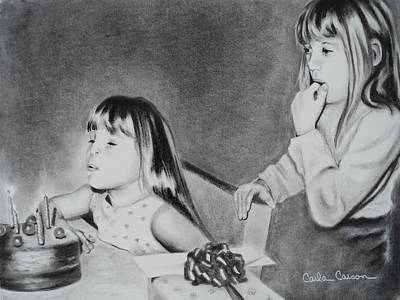 Drawing - Birthday Wishes by Carla Carson