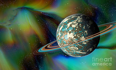 Digital Art - Birthing Planet by Curtis Koontz