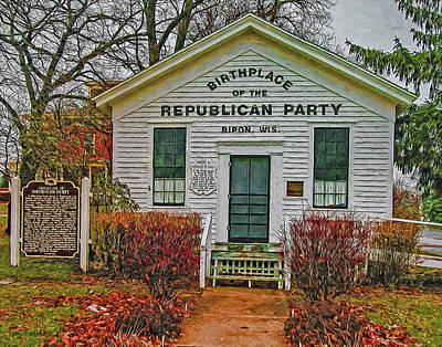 Birthplace Republican Party Art Print by Trey Foerster
