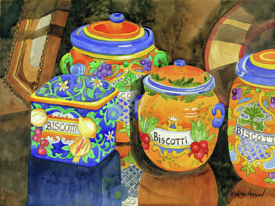 Sienna Italy Digital Art - Biscotti by Robin Wethe Altman