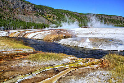 Photograph - Biscuit Basin Thermal Activity In Yellowstone by Carolyn Derstine