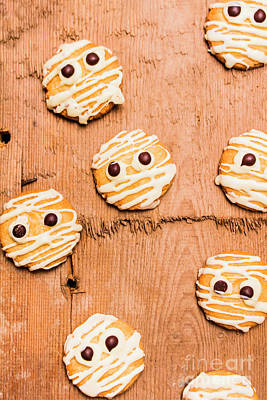 Biscuit Gathering Of Monster Mummies Art Print