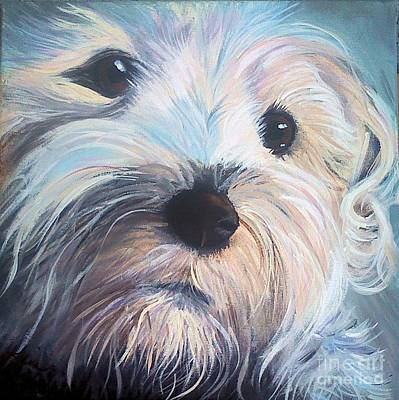 Painting - Biscuit The Terrier by Kim Chambers