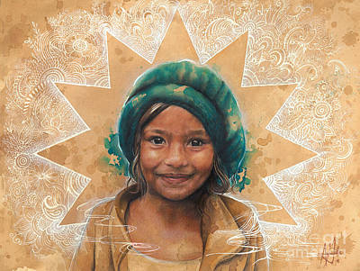 Nepali Painting - Bisha Pariyaar by Anamika Gurung