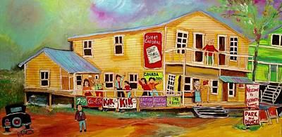 Lindy Painting - Vintage Bishinsky's Dancehall Shawbridge 1950's by Michael Litvack