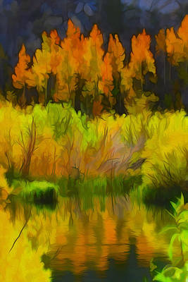 Mixed Media - Bishop Creek Aspens by Frank Lee Hawkins