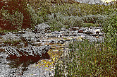 Print featuring the painting Bishop Creek Nightfall by Larry Darnell