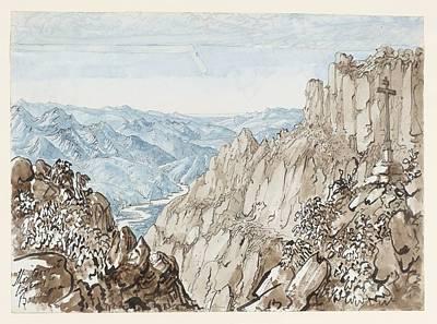 Bishop Of Gibraltar Montserrat Looking To Barcelona Art Print by MotionAge Designs