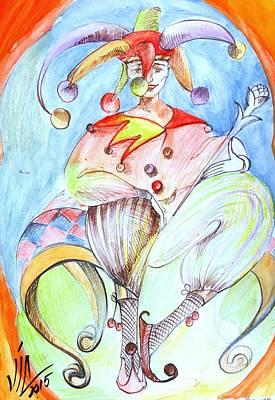 Painting - Bishop. White Bishop.chess Piece. History Of Chess Map  by Vali Irina Ciobanu