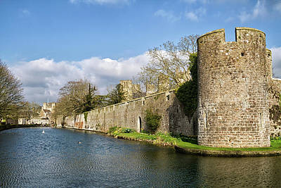 Photograph - Bishops Palace At Wells Cathedral by Shirley Mitchell