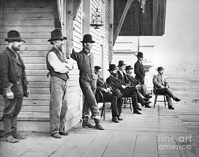 Photograph - Bismarck: Railroad Station by Granger
