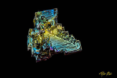 Art Print featuring the photograph Bismuth Crystal by Rikk Flohr