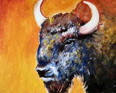 Bison Print by Anastasis  Anastasi