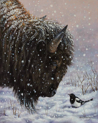 Painting - Cold Weather Cohorts by Kim Lockman