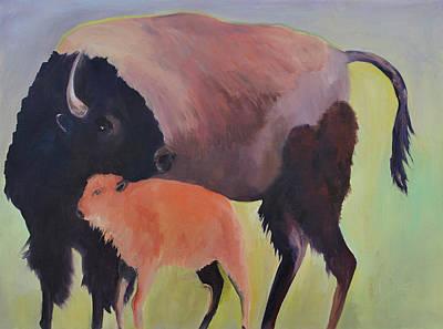 Bison And Calf Original