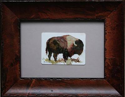 Betty Billups Wall Art - Painting - Bison by Betty Jean Billups