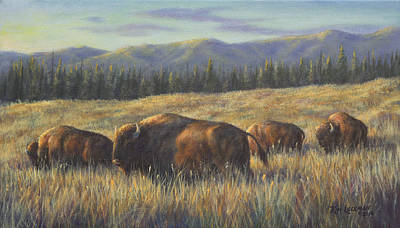 Painting - Bison Bliss by Kim Lockman