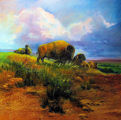 Bison Bluff Art Print by Robert Carver