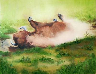 Painting - Bison Dirt Bath by Joni McPherson