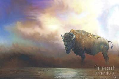 Photograph - Bison In Yellowstone by Janette Boyd