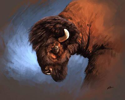 Bison Digital Art - Bison by Norman Rawn