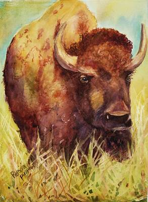 Bison Or Buffalo Original by Patricia Pushaw