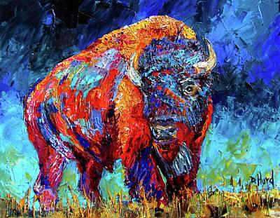 Wall Art - Painting - Bison Plains by Debra Hurd