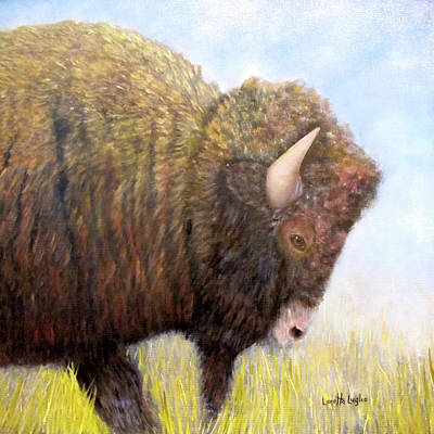 Painting - Bison - Spirit Of The Plains by Loretta Luglio