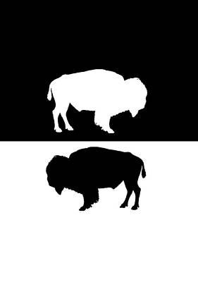 Bison Digital Art - Bisons by Steph J Marten