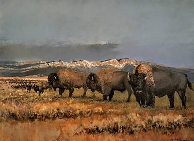 Painting - Bisons Of The Front Range by Jessica Anne Thomas