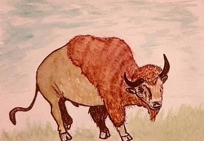 Painting - Bisonte by Jesus Nicolas Castanon