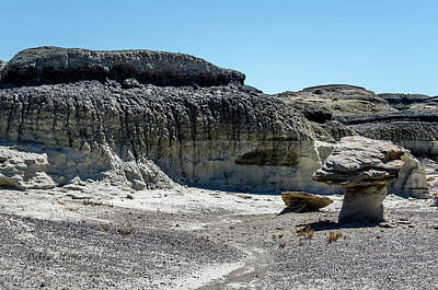 Photograph - Bisti Badlands - Black Topped Hill by Debra Martz