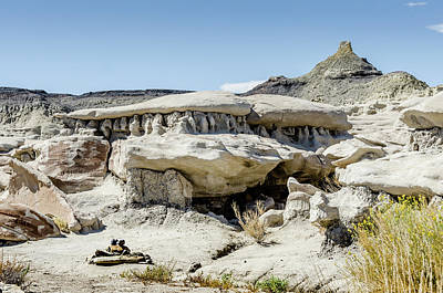 Photograph - Bisti Badlands - Found A Cairn by Debra Martz